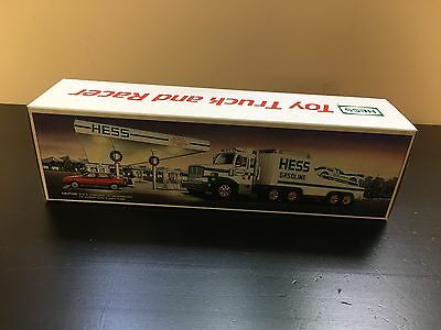 VINTAGE 1988 HESS FIRE TOY TRUCK and RACER    NEW IN THE BOX