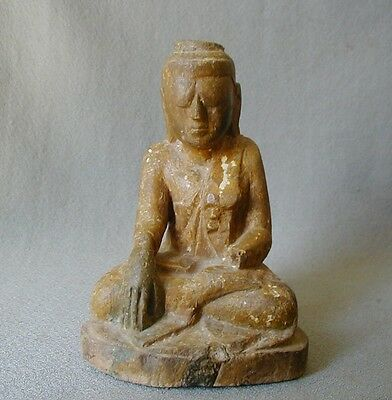 Very Old Carved Wood Buddha