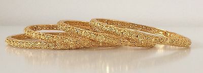 Bollywood Style/ Indian Jewellery/ Party Wear 4 Bangles/ Gold