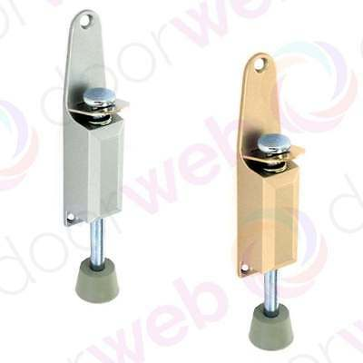 DOOR HOLDER KICK DOWN STOP Stay Wedge Spring Loaded Brass and Aluminium 125mm