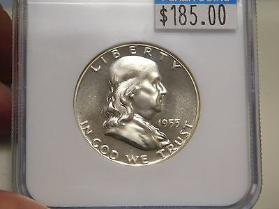 1955 Franklin Proof Half Dollar Graded PF 68 by NGC