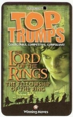 Lord Of The Rings - The Fellowship Of The Ring - Top Trumps. Winning Moves