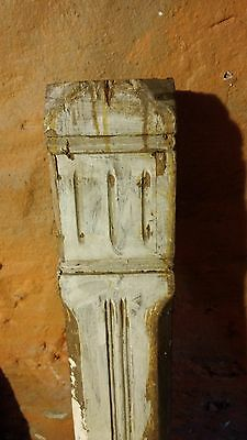 Antique salvage newel post wood architectural 46.5""