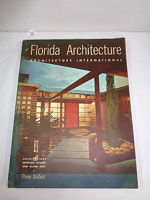 "Sarasota Mid-Century Modern on cover of ""Florida Architecture 1960 Edition"""