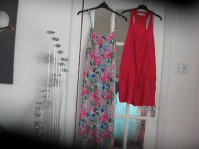 womens  next playsuit and dress size 10-12