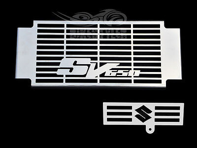 SUZUKI SV 650 / 650S 2005-10 K5-K10 STAINLESS RADIATOR COVER w/ OIL COOLER GRILL