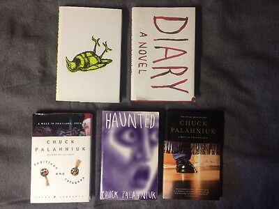 Chuck Palahniuk First Edition Book Lot Lullaby Diary Haunted Stranger Refugees