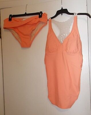 Women's Liz Lange Brand size M or L Two Piece Tankini Maternity Swim Suit NWT