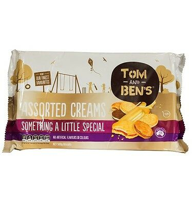 Tom And Bens Assorted Cream 500g x 6