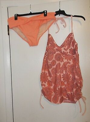 Women's Liz Lange Brand size L Two Piece Maternity Swim Suite NWT