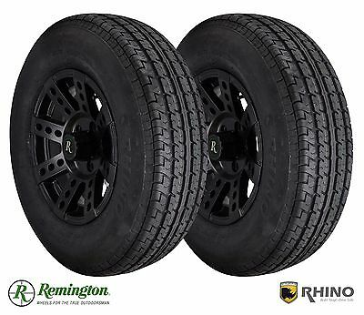 Pair (2)Trailer Utility Wheel and Tire Package 2057515 205/75R15 15x6.0 6 Lug