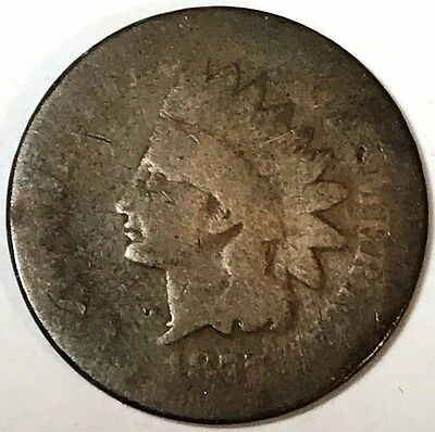 RARE 1877 U.S. Indian Head Small Cent Penny Coin-Key Date- 052402