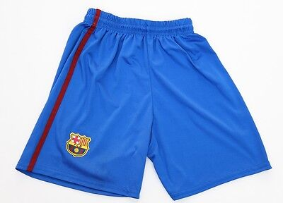 Boys FC Barcelona Soccer Futbol Club Team Blue Shorts FCB Youth Kids Size 8