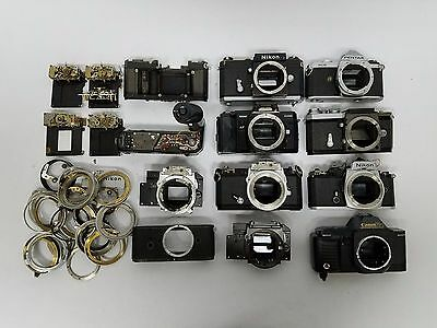 Vintage 35mm Camera Repair Parts And Pieces Lot Free Shipping