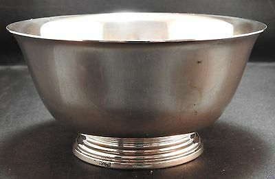 Vintage Sterling Silver Round Footed Bowl 144.5 grams