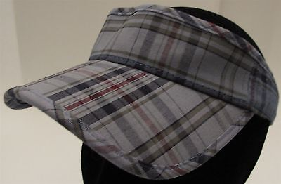 Place Athletics Dept. Size 4-7 Plaid Visor Hat Cap Adjustable Strap