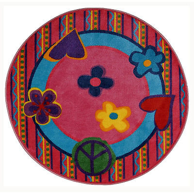 """Fun Rugs Peace Out 51"""" Round Rug"""