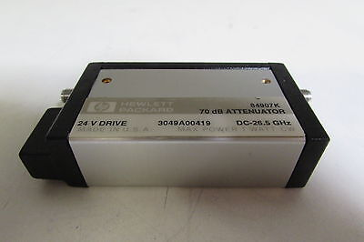 Agilent 84907K Programmable Step Attenuator, DC to 26.5 GHz, 70dBm, zs-12