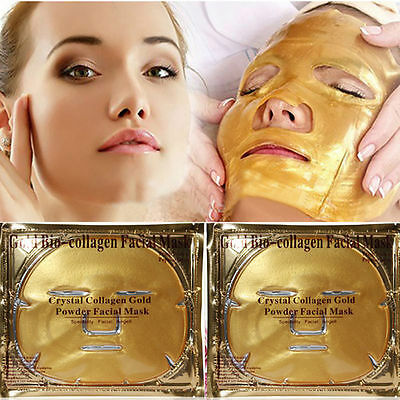 1PC Women Gold Collagen Crystal Face Masks Anti Ageing Skin Care Facial Mask