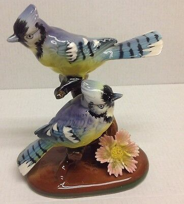 Blue Jays Figurine sitting on Branches