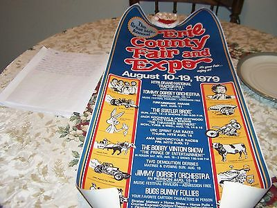 ORIGINAL 1979 140th ERIE COUNTY FAIR AND EXPO POSTER