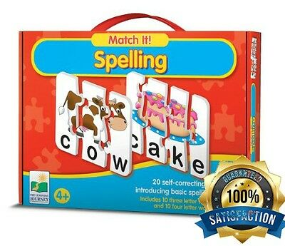 Educational Toys For 4 Year Olds Learning Spelling By Matching Boys Girls Play