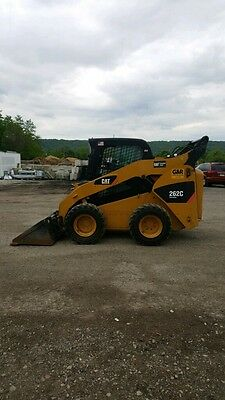 Caterpillar Cat 262C Skid Steer Loader LOADED 2 Speed! AC! Package Deal!