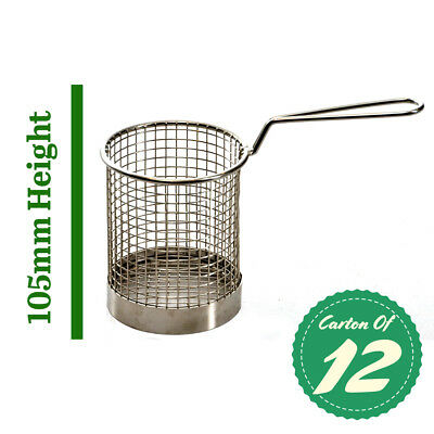 Mini Fry Basket Stainless Round, Fryer / Deep Fry (Carton Of 12) 105mm High