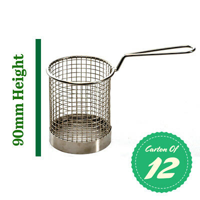 Mini Fry Basket Stainless Round, Fryer / Deep Fry (Carton Of 12) 90mm High