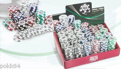 roll of 25 tokens World Series of Poker 14g Wsop chips roll values 1 à 5000