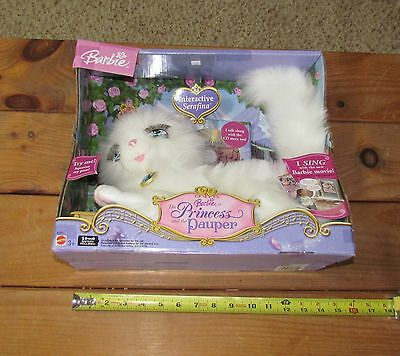 NOS PRINCESS AND THE PAUPER BARBIE SERAFINA INTERACTIVE CAT w/CD  FACTORY SEALED