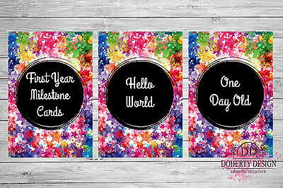Rainbow Star | Milestone Cards | Photo Props | NEW {28 Cards} CLEARANCE