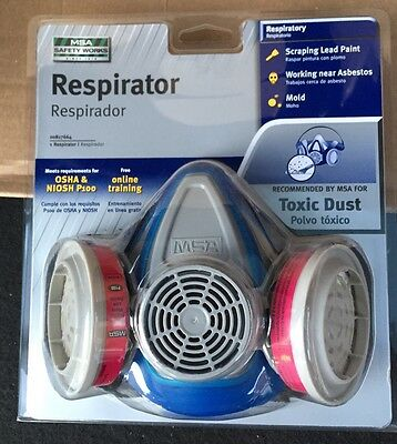 MSA Safety Work Toxic Dust Respirator Spray Paint Protect Gear Mask Chemical Gas