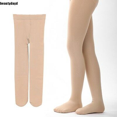 Children's Girls Ballet Dance Tights Footed Seamless Solid Stockings BD6D