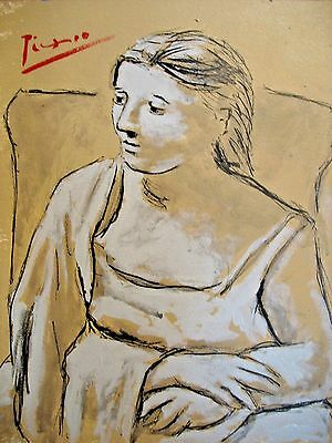 Pablo Picasso, signed, original, certificate, drawing, vintage, art, painting