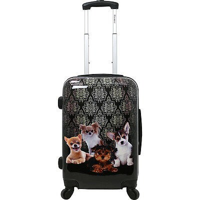 Chariot Doggies 20'' Hardside Spinner Carry On Softside Carry-On NEW