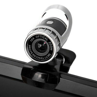 12MP HD Webcam Web Cam Camera with MIC Clip-on for Skype PC Computer Desktop UK