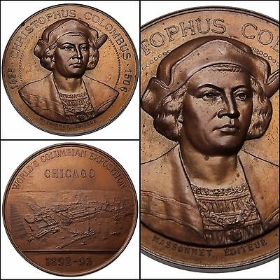 100103 | United States 1893 Columbian Exposition Bronze Medal Chicago Ms