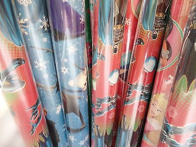 Disney Holiday Christmas Wrapping Paper 65 SqFt' Batman Spiderman Frozen Mickey