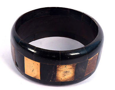Beautiful Indian Tribal Gypsy Mosaic Artisan Wood Jewellery Ethnic Bangle. i8-29