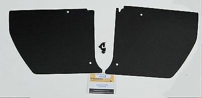 HOLDEN HJ HX HZ Kick Panels Black (pair) Inc 4 Trim Buttons *Top Quality*
