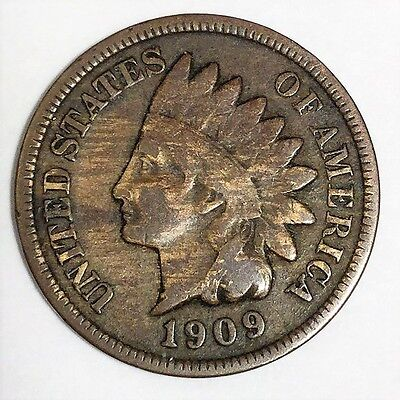 1909-S Indian Head Penny Beautiful High Grade Coin Rare Date