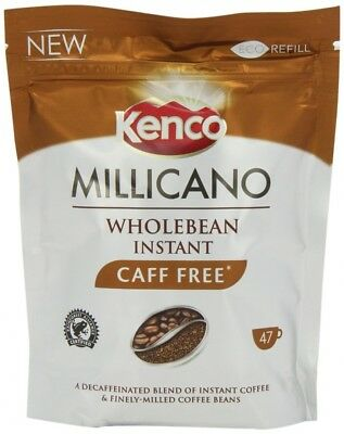Kenco Millicano Caffeine Free Wholebean Instant Coffee Refill 85 g (Pack of 6)