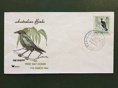 Australian Birds The Magpie First Day Cover FDC 1964 Unaddressed
