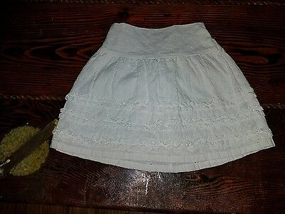 Hartstrings 4t White 100% Cotton Adorable Skirt