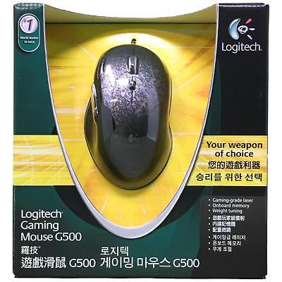 Logitech G500 Black Chrome 10 Buttons Scroll Wheel USB Wired Laser 5700dpi Mouse
