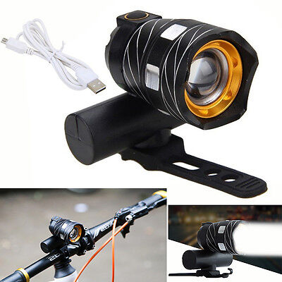 15000LM XML T6 LED USB Rechargeable Bike Front Head Light Torch Flashlight Lamp