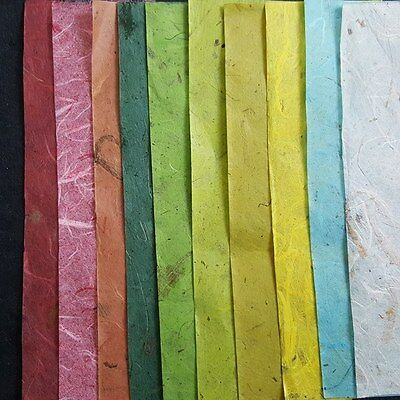10 Sheets Unryu Mulberry Paper Translucent Thin Wrapping  Tissue Craft 21x29 Cm