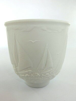 Lladro Collectors Society Cup With Sailing Ship Decoration 1997