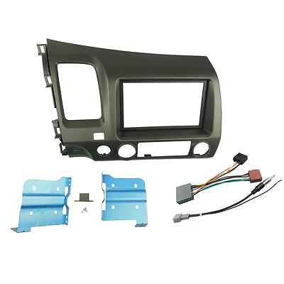 Double Din Radio Stereo Panel Dash Installation Mount Trim Kit for Honda...